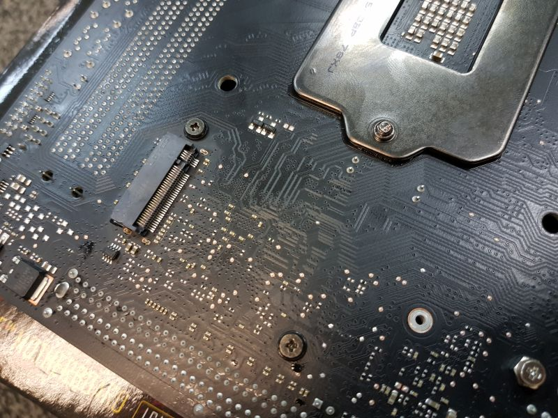 And the second M.2 port can be found behind the motherboard.