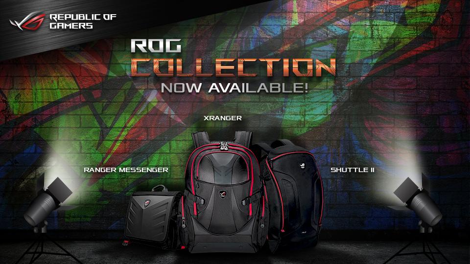gaming, apparel, asus, bags, republic of gamers, rog, t-shirts