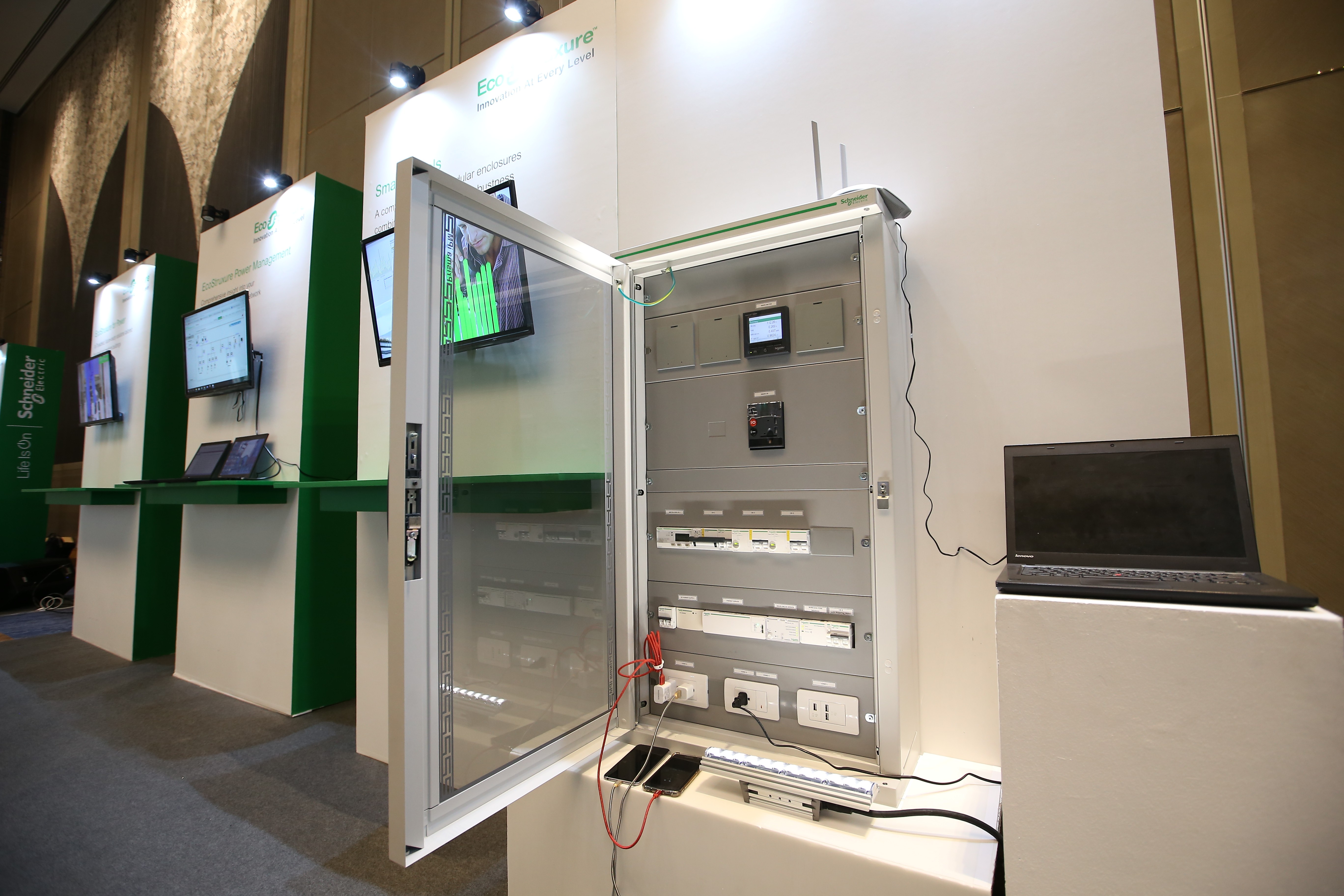 The Schneider Electric Smart Panel.