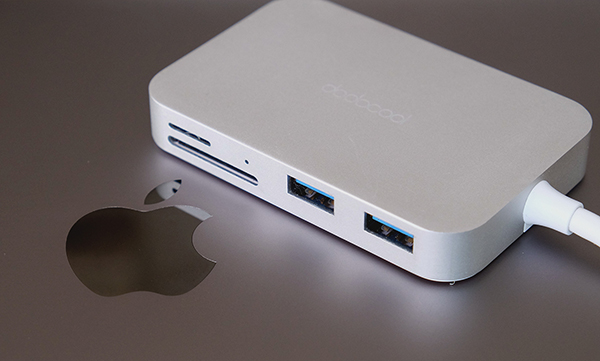 My primary dongle offers 3 x USB 3.0 ports, an HDMI port, SD and microSD card readers, and a USB-C power port.