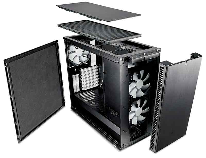 Fractal Design S Define R6 Combines Tempered Glass With