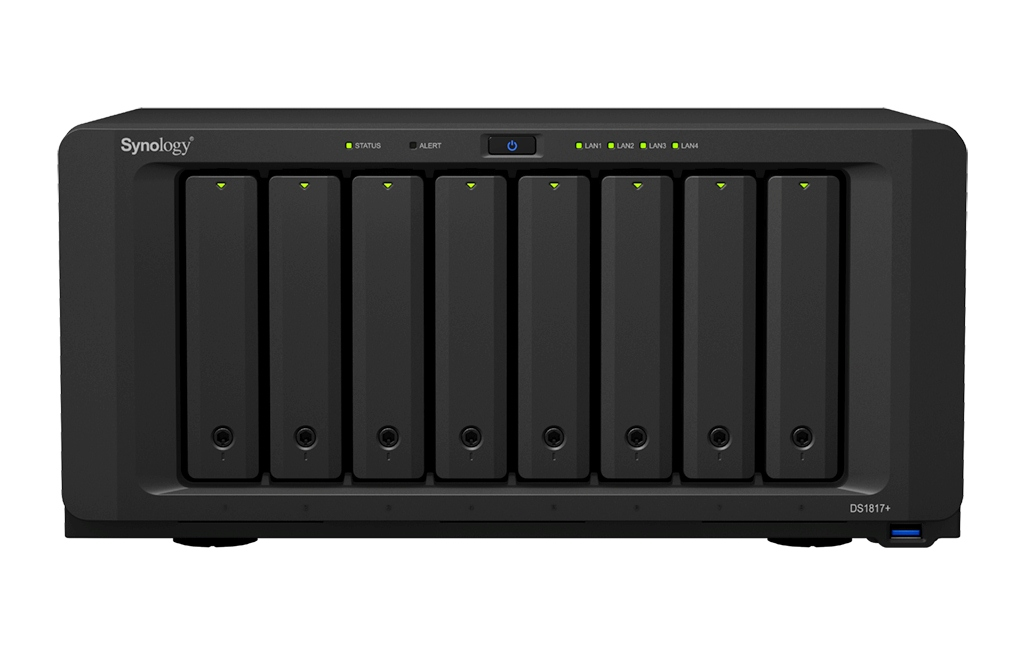 synology, diskstation, ds1817+, intel, atom, dsm, network attached storage, nas, audio station, photo station, video station, mailplus, raid, visualstation, surveillance