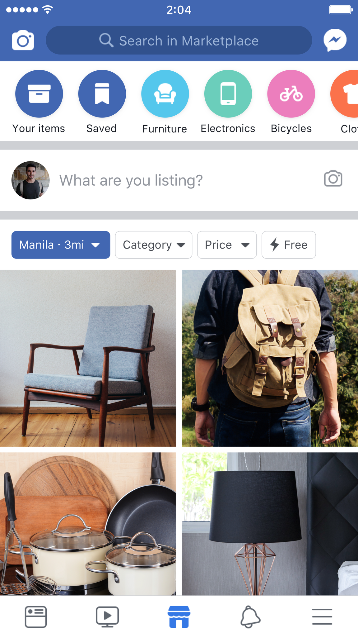 Search items you need within your area in Marketplace. (Image from Facebook)