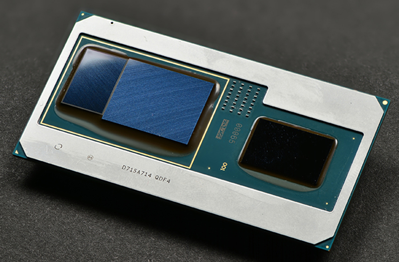The new processors integrate the CPU, GPU, and HBM2 memory on the same package. (Image Source: Intel)