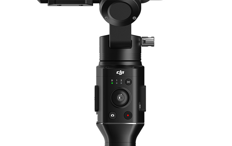 Physical controls on the Ronin-S give you control over your camera while filming.