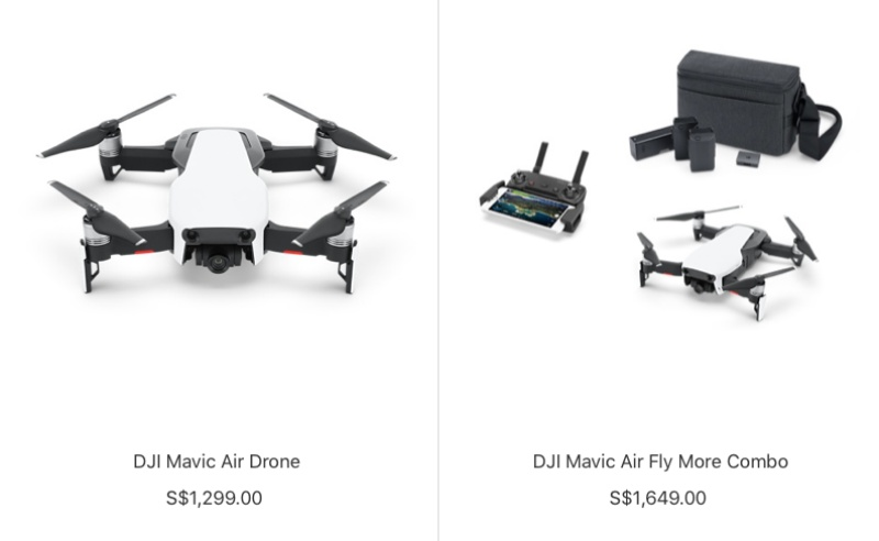 You can pre-order the Mavic Pro on Apple Online Store (Singapore).