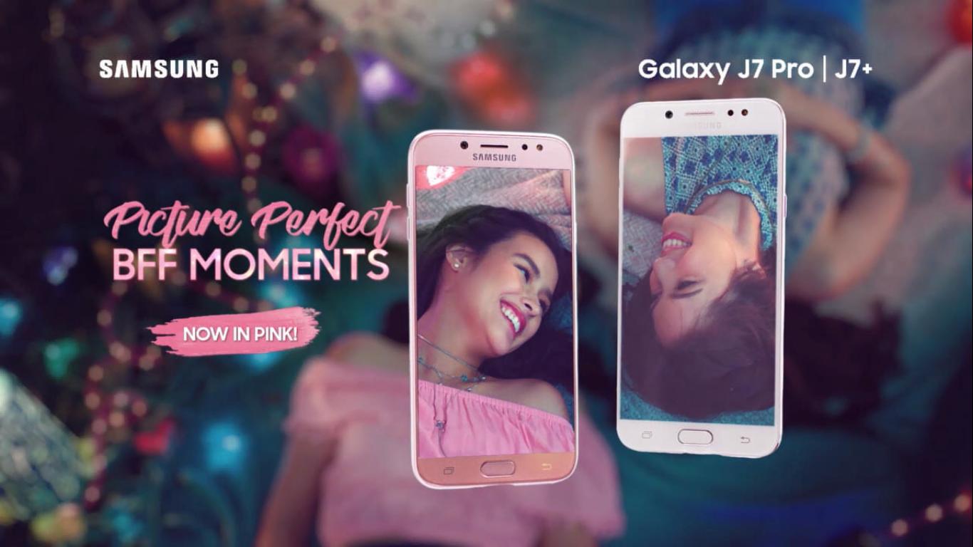 android, liza soberano, michelle vito, samsung, samsung j series, samsung j7 pink, samsung j7 pro, samsung j7+, smartphones