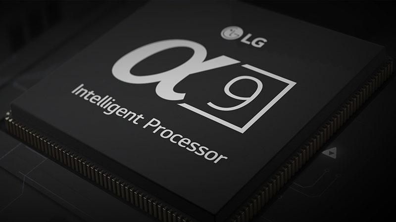 LG's 2018 OLED TVs are getting an Alpha 9 processor. (Image source: LG.)