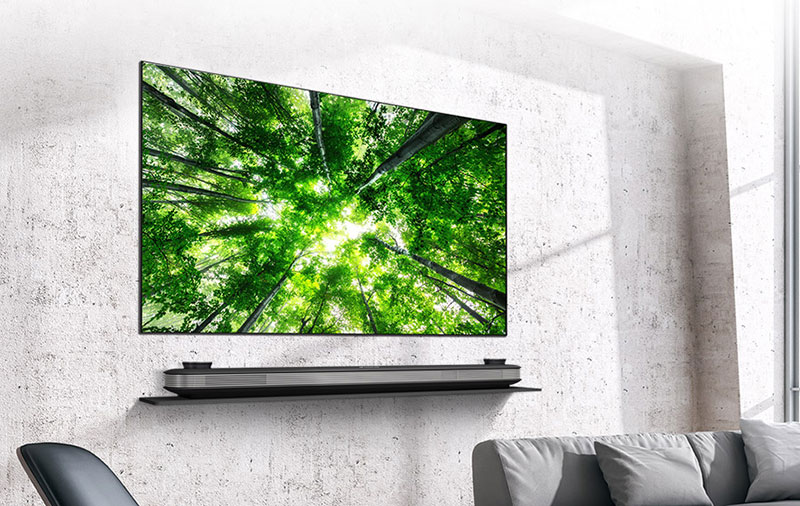 LG's 2018 flagship OLED TV is the Signature W8. (Image source: LG.)