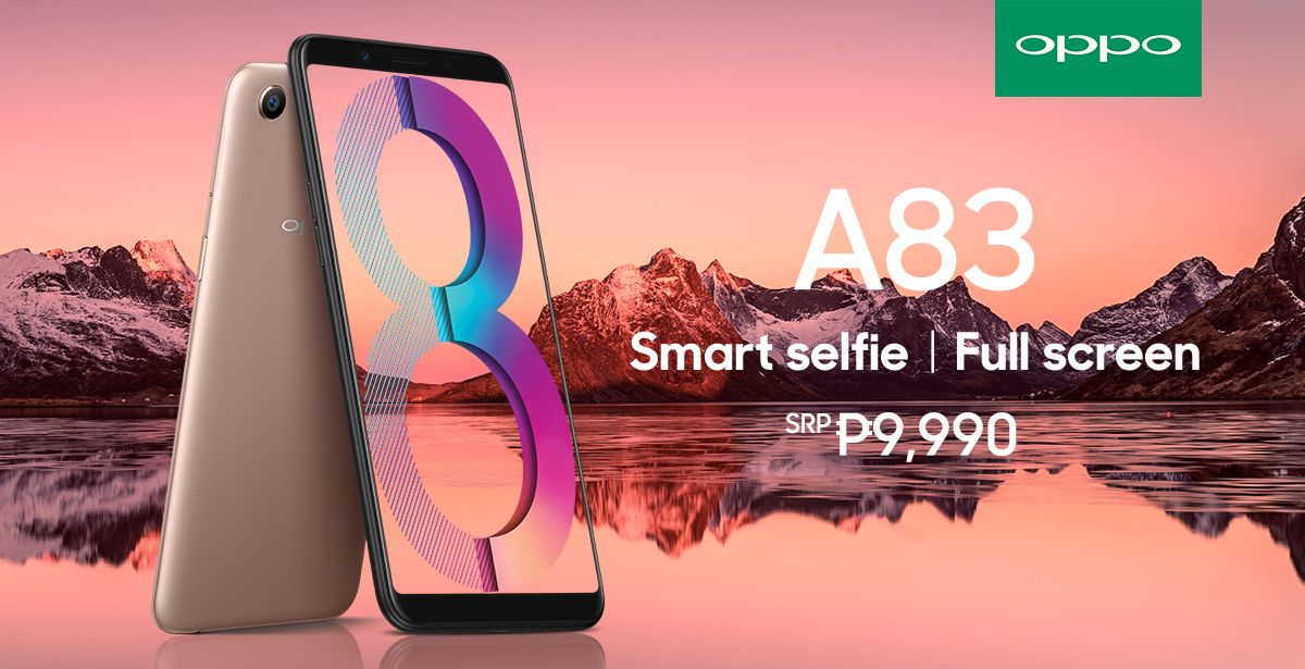 a.i. beauty technology, android, full screen display, oppo, oppo a83, smartphones