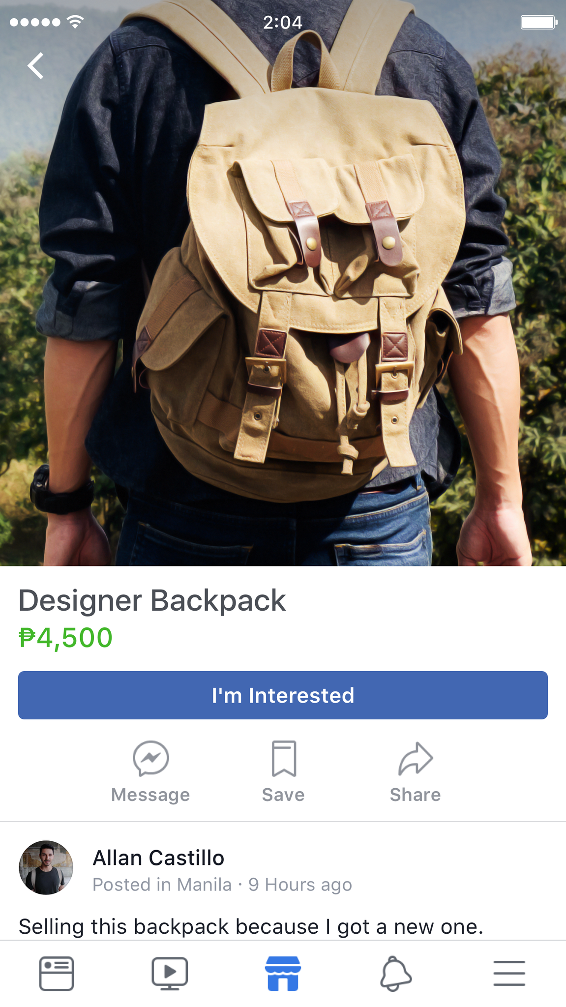 Click on the item to see the item's image clearly and see the seller's photo. (Image from Facebook)