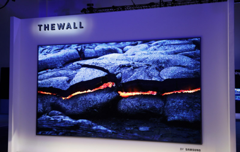 The Wall is the world's first modular microLED TV, and it's huge! (Image source: Samsung.)