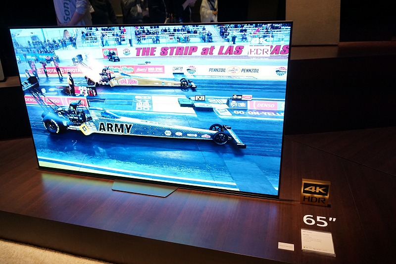 The new Sony Bravia A8F in the flesh at CES 2018. We estimate this to be available locally by the second quarter of 2018.