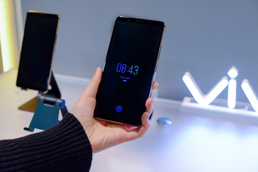 Vivo's in-display authentication feature on a smartphone.