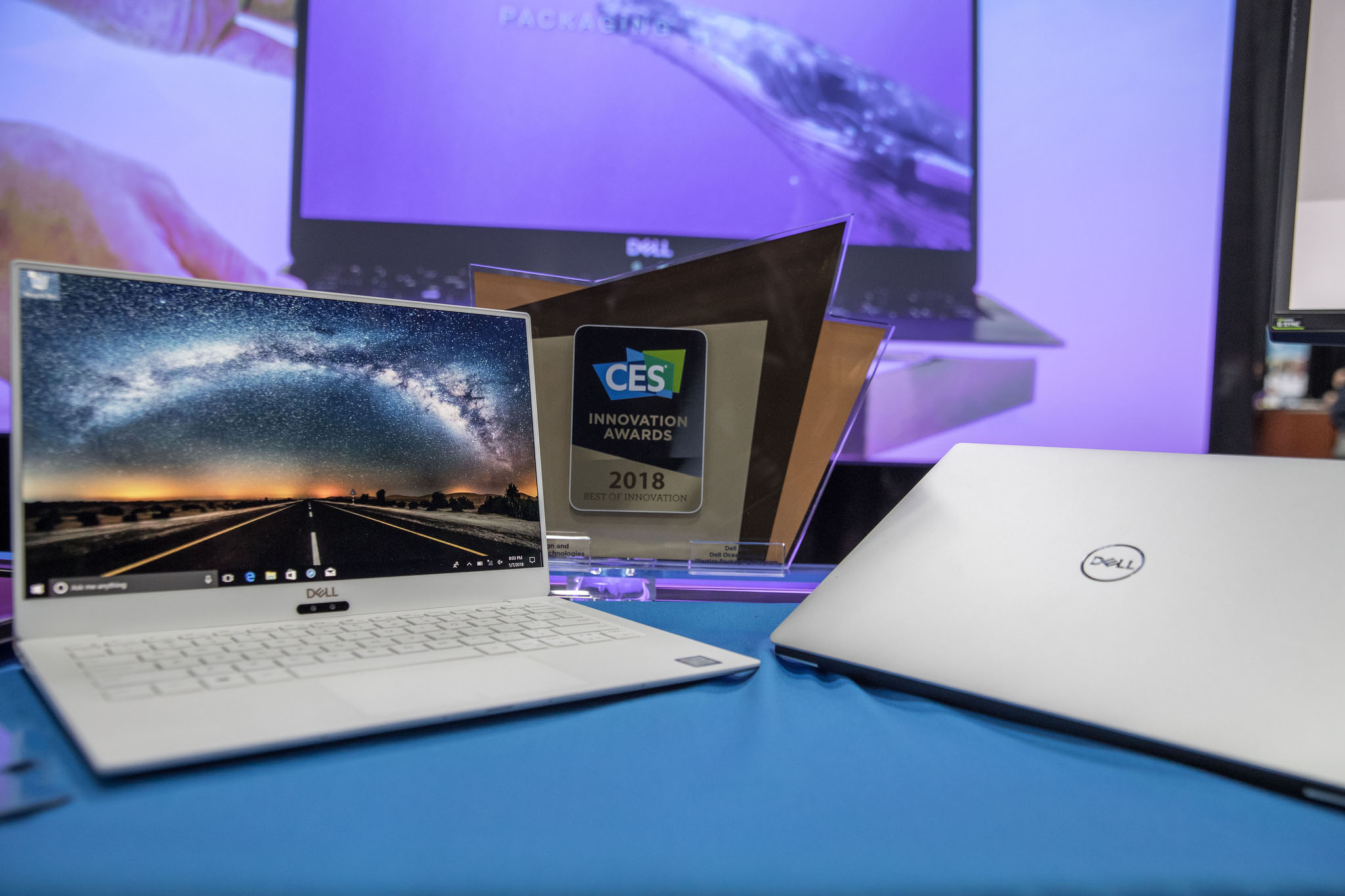 dell, ces 2018, xps 13, laptops, notebooks, infinityedge, xps 15, kaby lake, intel, 8th generation core, processors, amd, radeon, rx vega, dell cinema, alienware, htc vive, inspiron, ultrathin, monitors, s2719dm, s2419hm