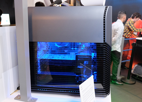 The see-thru side panel lets owners admire their system's internals.