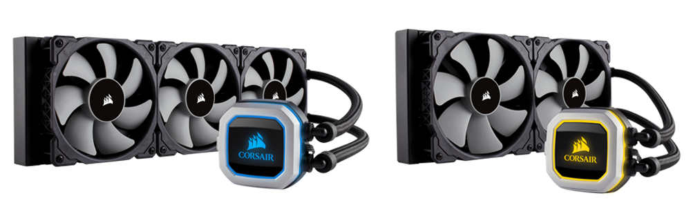 The new Corsair Hydro Series coolers.