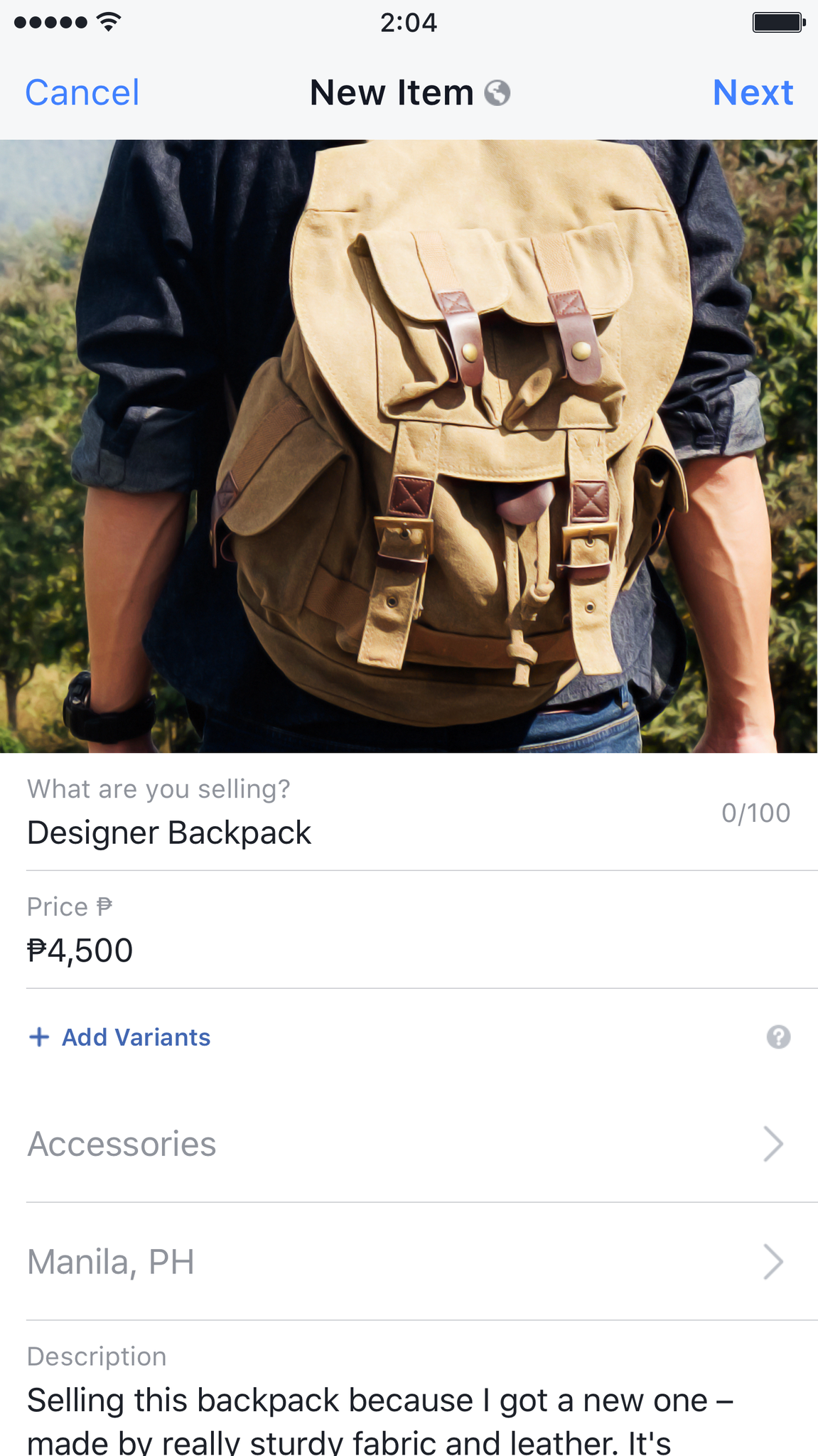 Just fill up the seller's form and post your sale item in Marketplace. (Image from Facebook)