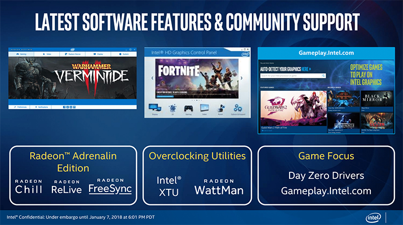 You'll enjoy the full complement of software utilities and driver support. (Image Source: Intel)