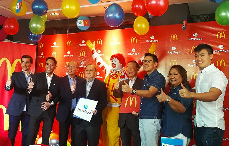 McDonald's and PayMaya executives at the press event of their partnership.