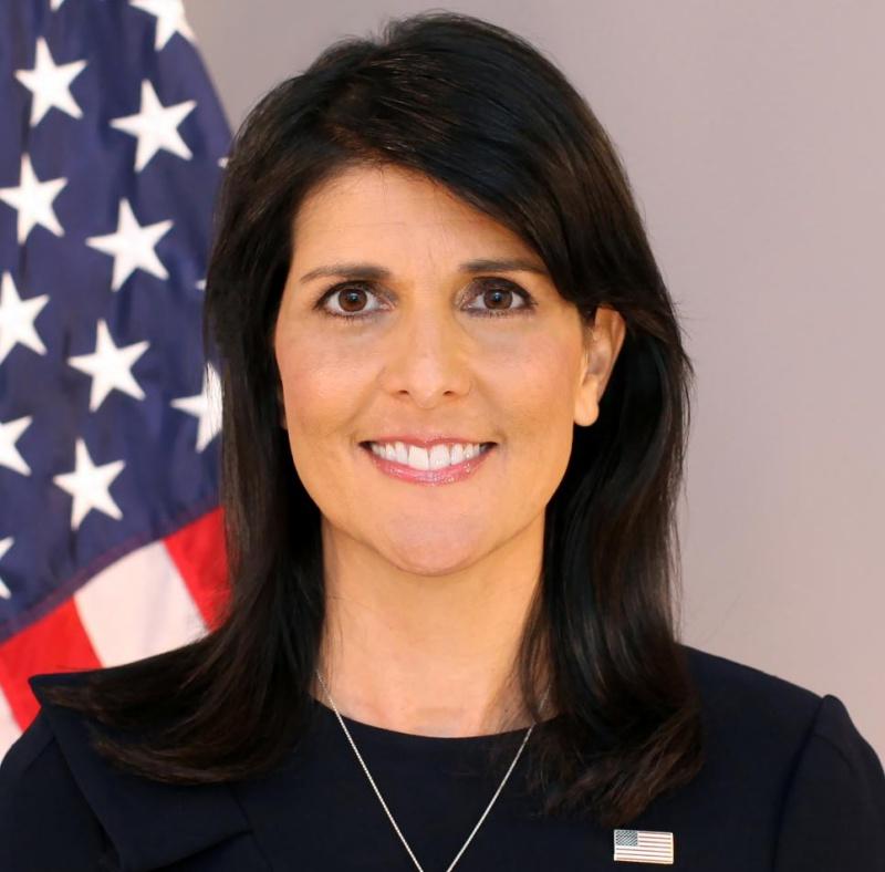 Nikki R. Haley, the former US ambassador to the United Nations. <br>Image source: usun.state.gov