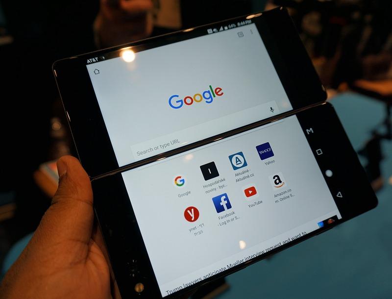 Web browsing across dual screens is a treat!