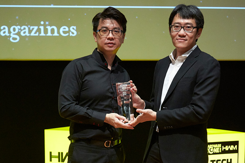 D-Link is the winner of 2 awards: Readers' Choice for Best NAS Brand and Best IP Camera Brand. Accepting the awards is Mr. Jonathan Quek from D-Link International Pte. Ltd.
