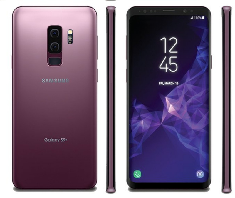 The Samsung Galaxy S9+. <br> Image source: @evleaks