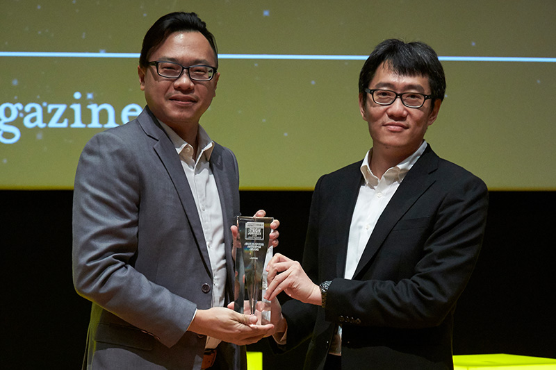Lenovo is winner of our Readers' Choice for Best Business Notebook Brand. Accepting the award here is Mr. Melvin Ang, SMB Segment Lead, PCs and Smart Devices, Lenovo.