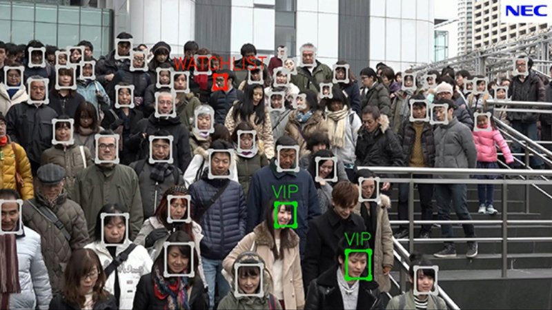 NEC's Video Face Recognition Technology <br>Image source: NEC