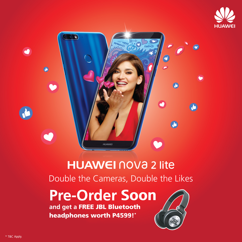 Get A Free Jbl Bluetooth Headset When You Pre Order Huawei Nova 2 Lite Hardwarezone Com Ph