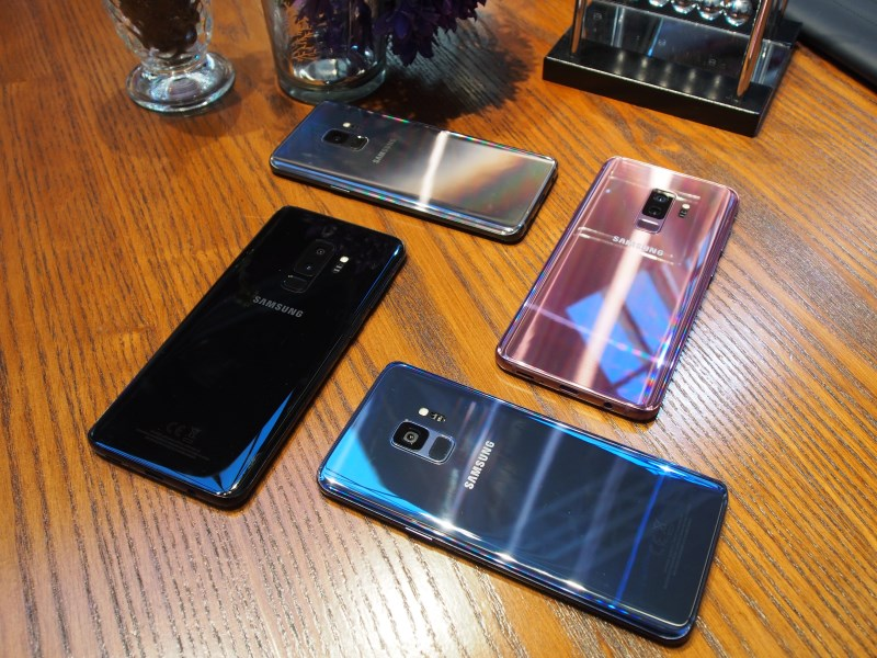 The Galaxy S9 launched in four different colors.