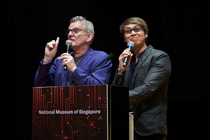 This year's Tech Awards ceremony was hosted by popular veteran DJs Glenn Ong and The Flying Dutchman from the One FM 91.3 music station.