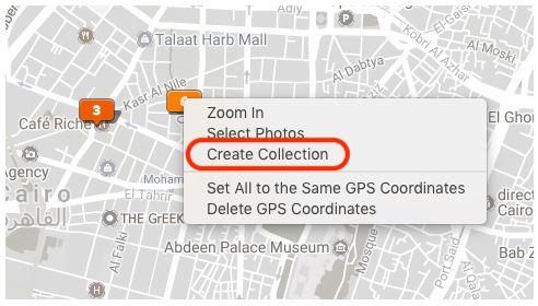 You'll now be able to create collections from the Map module.
