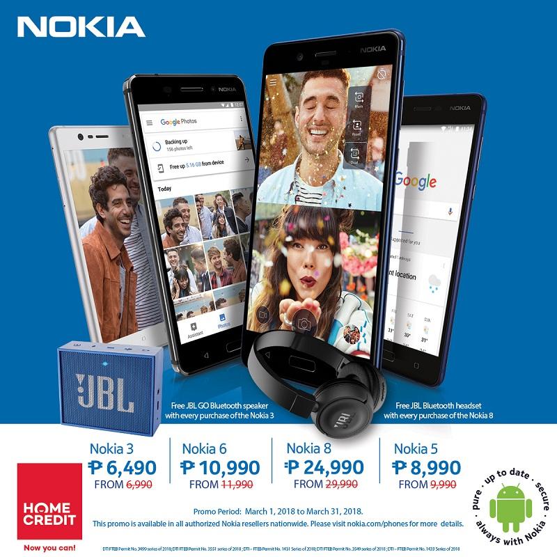 nokia, hmd global, nokia 5, nokia 5, nokia 3, nokia 2, smartphone, jbl go, bluetooth, headset, speaker, home credit