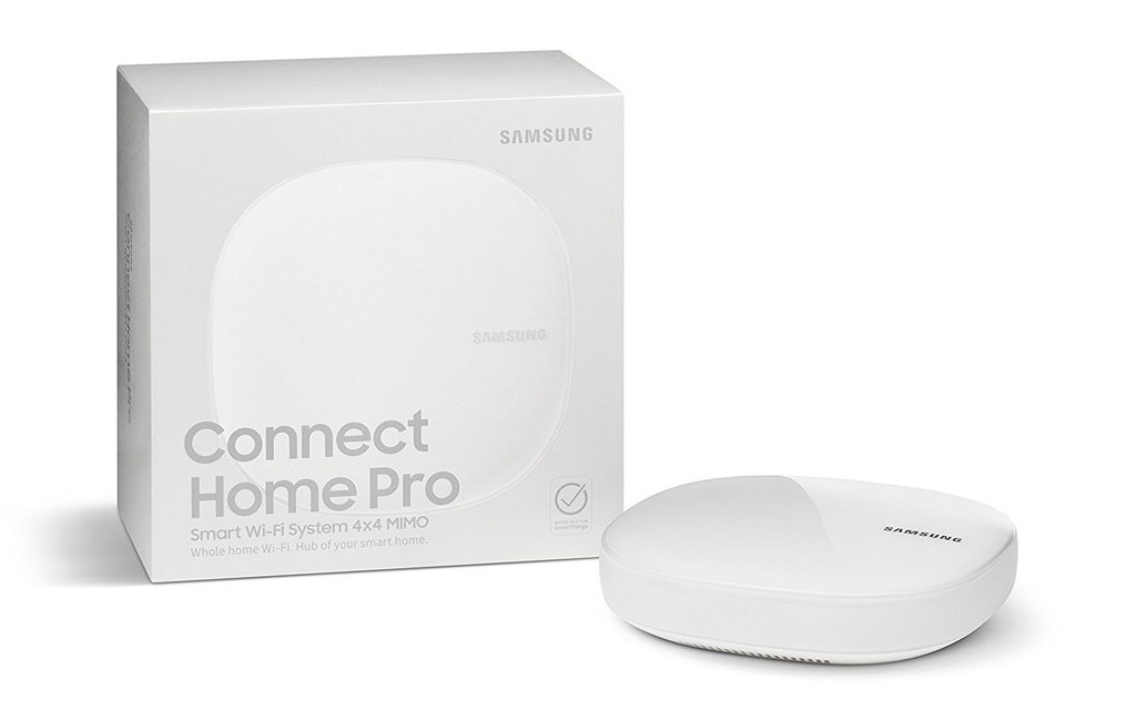 The Samsung Connect Home Pro mesh networking system and smart home hub. (Image source: Samsung)