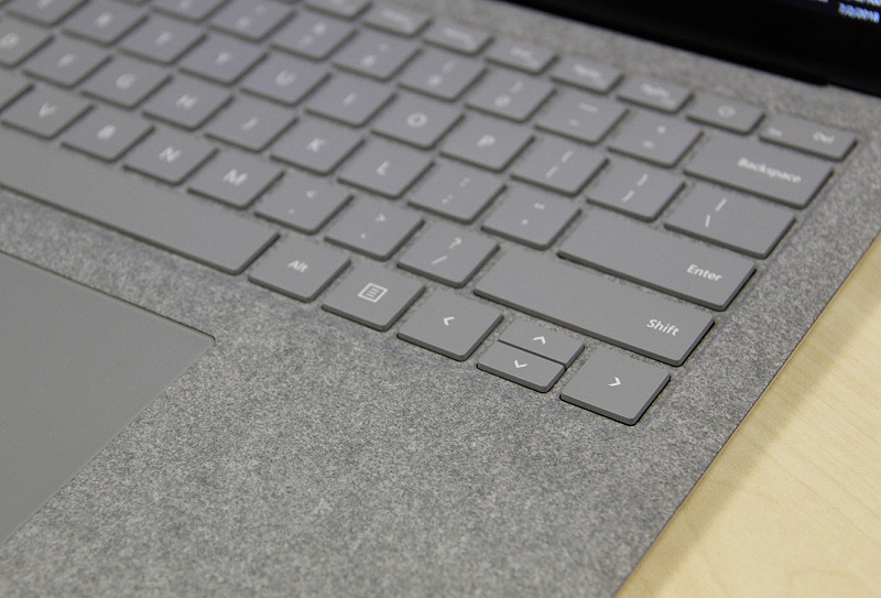 Alcantara around the keyboard lets the Surface Laptop stand out from its peers.