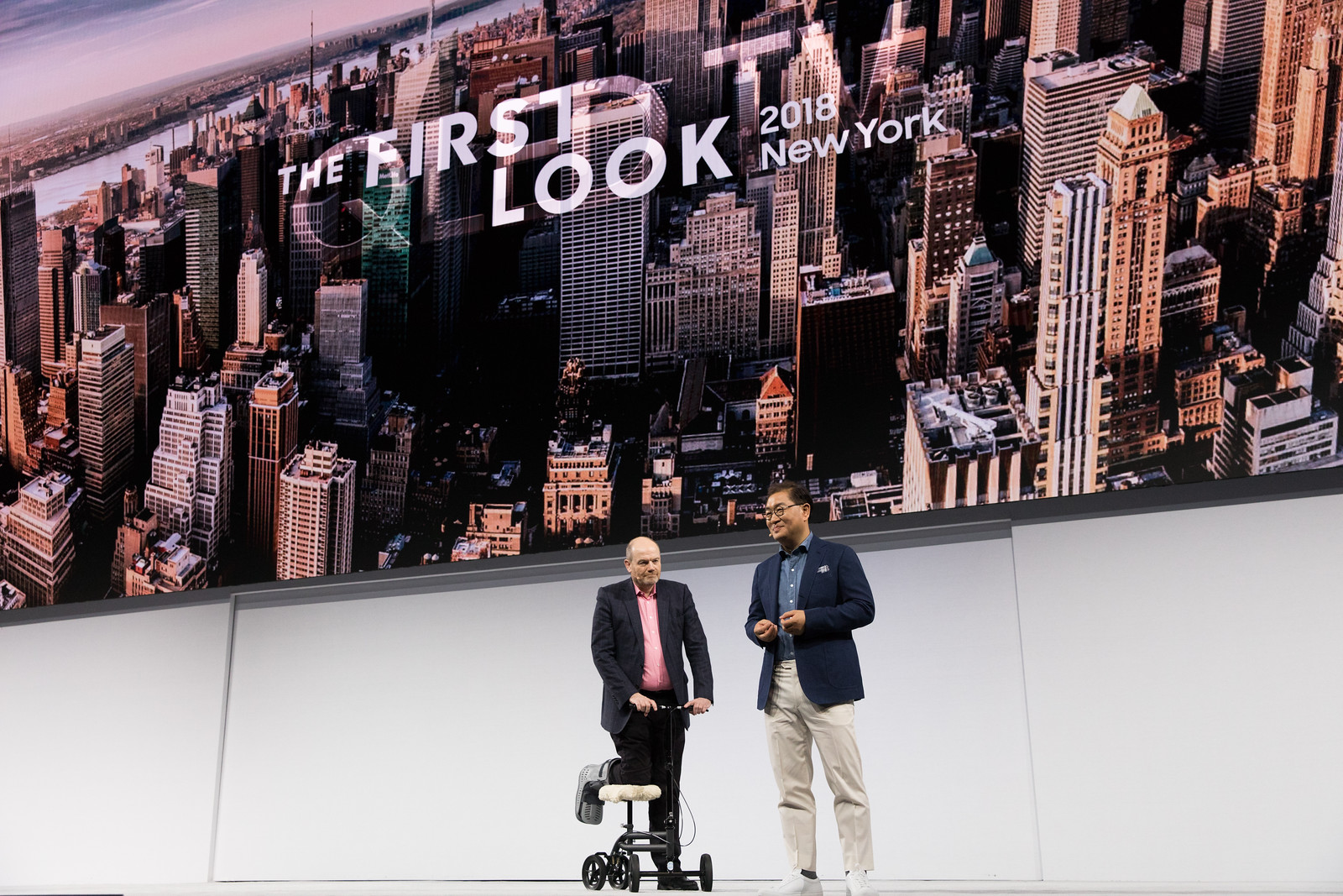 President Han was joined on stage with Mark Thompson, President and Chief Executive Officer of The New York Times Company.