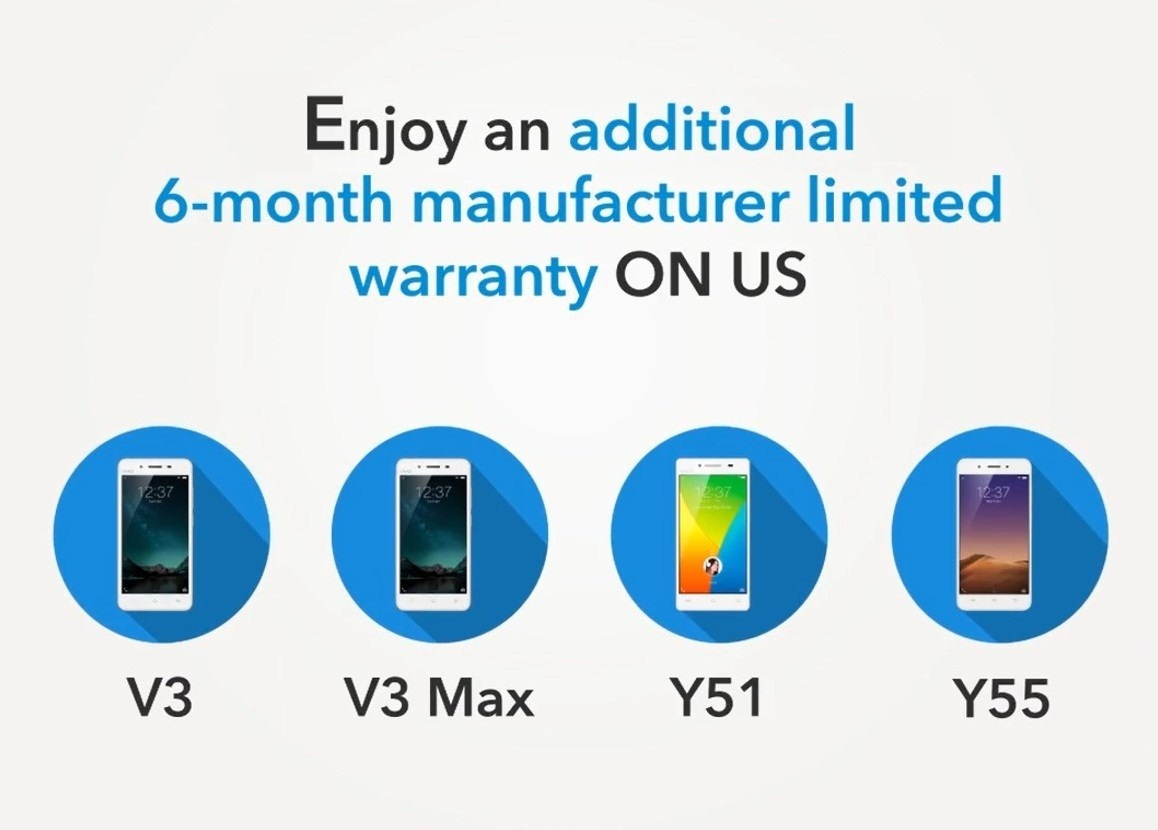 extension, vivo, warranty, v3, v3max, y51, y55, smartphone