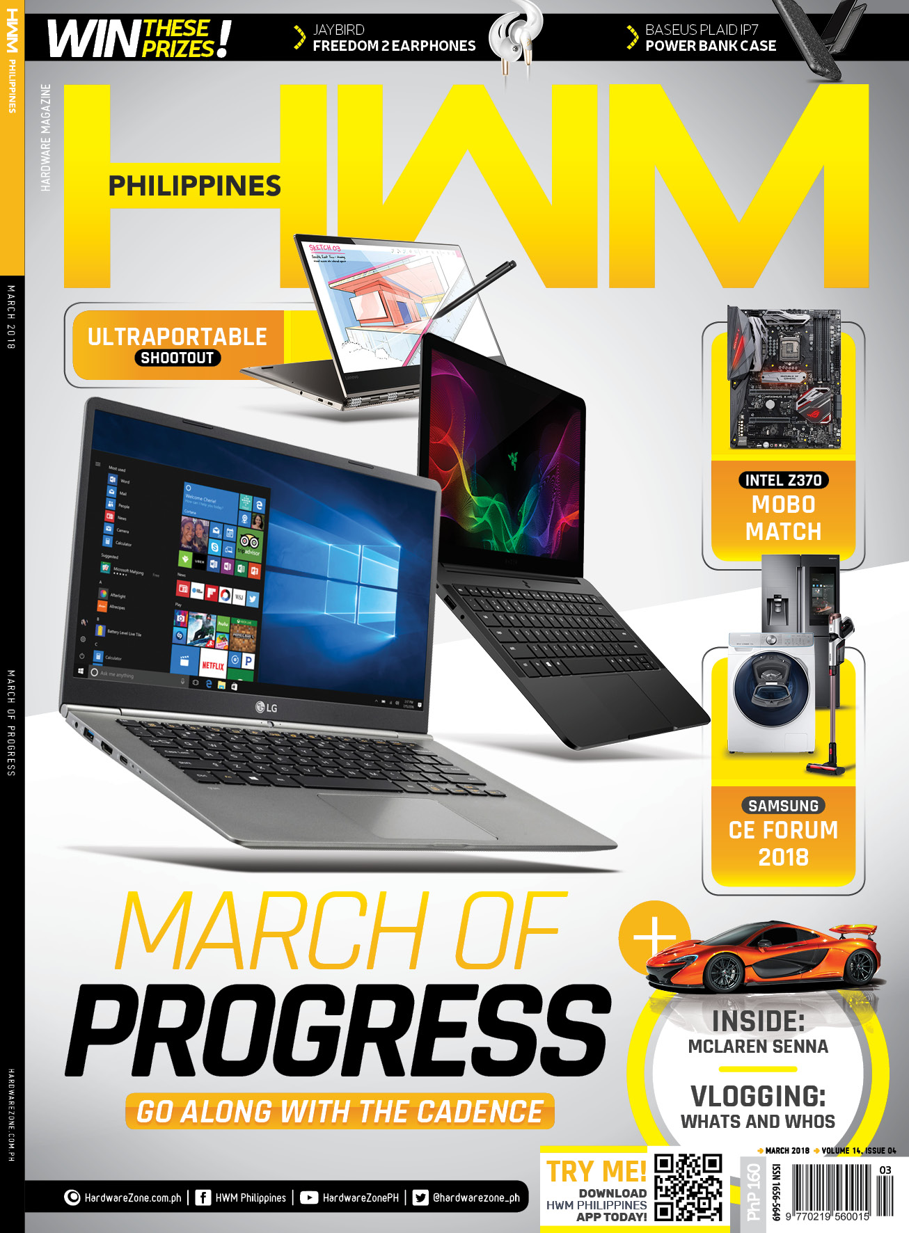 mwc 2018, barcelona, hwm, philippines, samsung, ces 2018, intel z370, motherboards, ultraportables, amd, ryzen 3, asus, zephyrus, fitbit ionic, oppo a83, seagate, barracuda, magazine, print