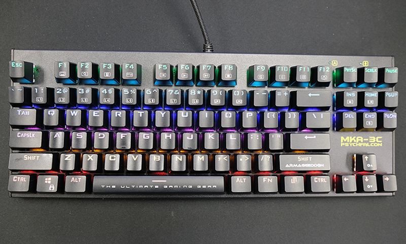 Armaggeddon MKA-3C Psychfalcon mechanical keyboard review