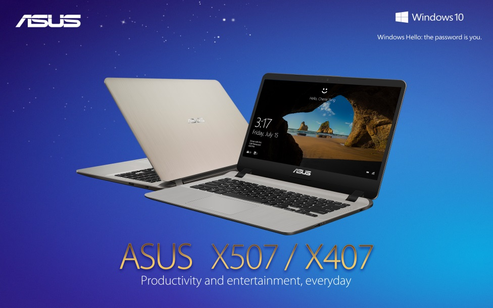 asus, x407, x507, intel, 7th generation, core, processors, core i7, nvidia, mx110, laptops, notebooks, windows hello, nanoedge, microsoft, windows 10, cortana, tru2life, splendid, sonicmaster, lazada