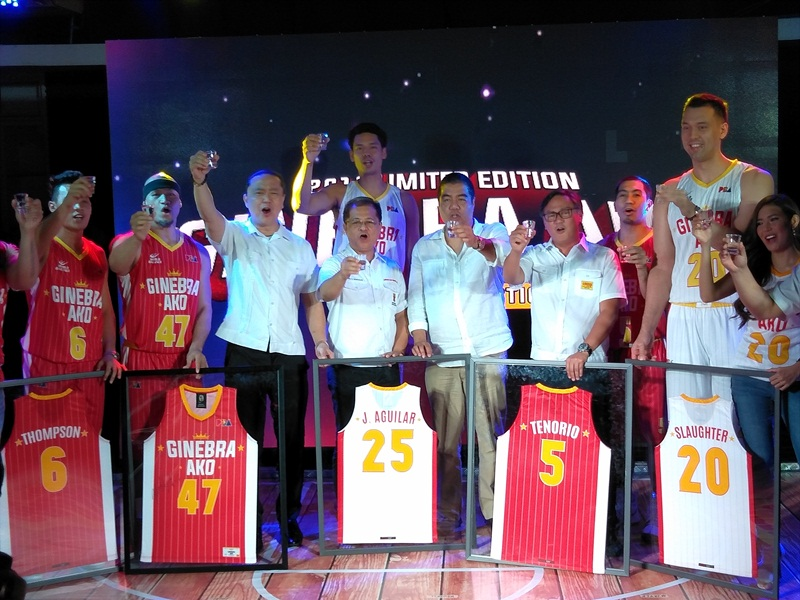 a432437bd The Ginebra San Miguel ceremonial toast spearheaded by SMC Sports Director  and Barangay Ginebra San Miguel Team Governor Alfrancis Chua