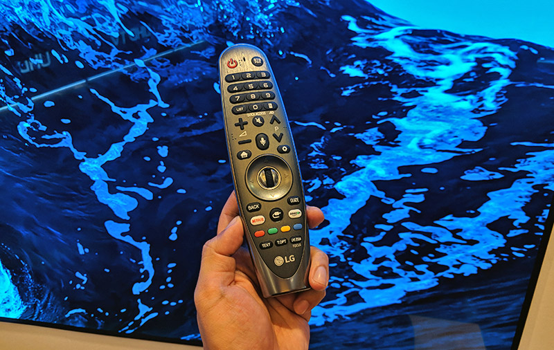 The TVs' smart remote control (LG calls it Magic Remote) have dedicated Netflix and Amazon buttons.