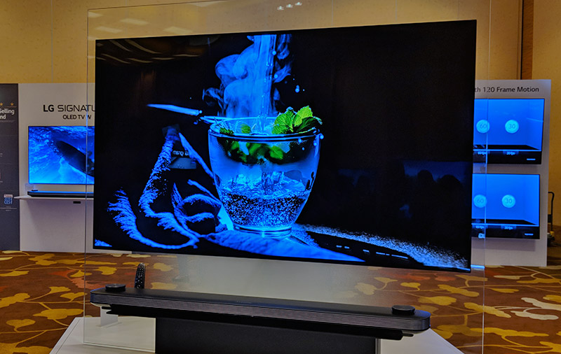 No surprise, blacks look super deep on these OLED TVs.
