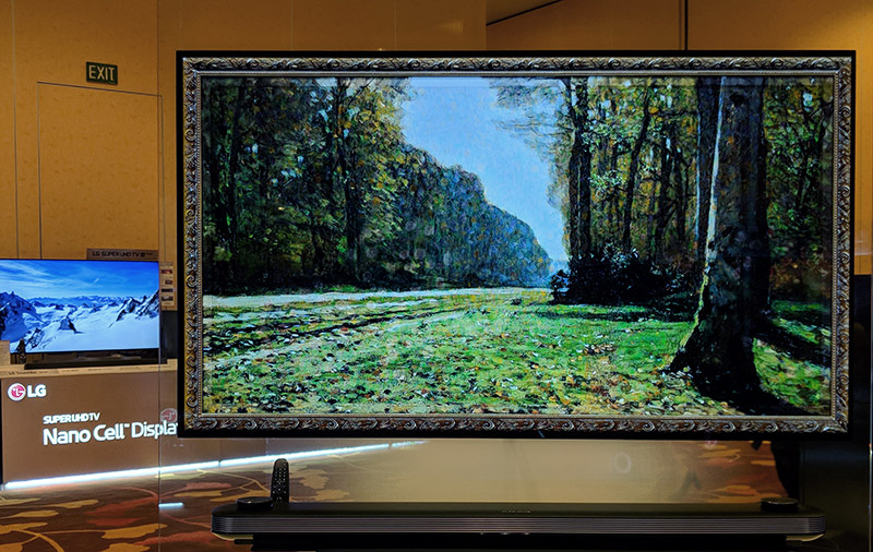 TV or painting? All the OLED TVs have this Gallery mode that turns them into a giant photo frame.