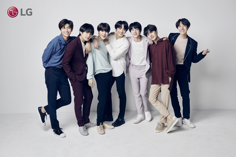 lg electronics, k-pop, bts, boy band, time magazine, billboard music awards, american music awards, smartphone, flagship, bangtan sonyeondan, beyond the scene, mic drop, rap monster, suga, j-hope, jin, jimin, jungkook, kim su-young