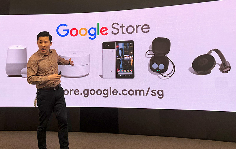 Mickey Kim, Google's Director for APAC Hardware Product Planning and Partnerships, introduces what's available on the Singapore Google Store.