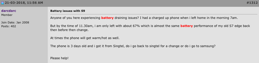 Samsung comments on the battery issues plaguing the Exynos