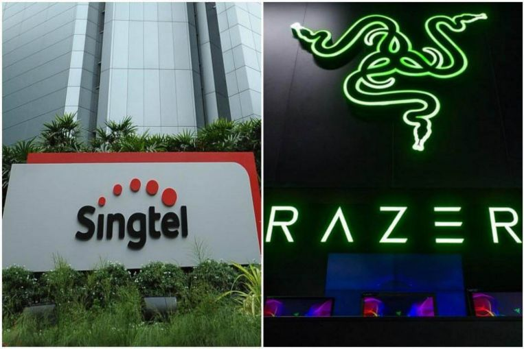 Telco Singtel and gaming peripheral firm Razer are coming together in a tie-up to create the largest e-payment network in South-east Asia. (Photos: Thomas Wong, Facebook/Razer.)